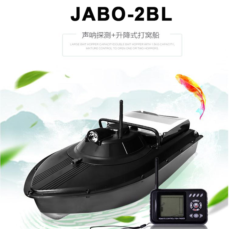 RC fishing Boat JABO-2BL JABO 2BL Fish Finder Boat Fishing Bait Boat VS Jabo 5A 5CG RC Boat toys fishing flying free shipping factory price catamaran hull jabo 5a long distance two hoppers rc bait boat for releasing hook
