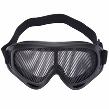 Hunting Metal Mesh Goggles Glasses Airsoft Safety Tactical Hiking Eyewear Protection 3 Colors Pinhole