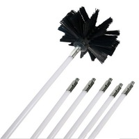 Nylon Brush With 6pcs Long Handle Flexible Pipe Rods For Chimney Kettle House Cleaner Cleaning Tool Kit