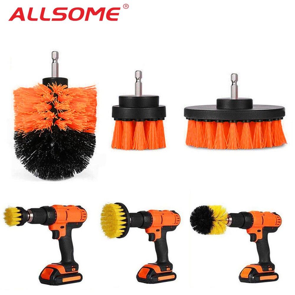 3 stücke Power Wäscher Pinsel Set Für Bad Bohrer Wäscher Pinsel Für Reinigung Akku-bohrschrauber Befestigung Kit Power Peeling Pinsel