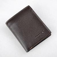 AQCASE ultrathin leather purse Men Wallet Super Thin Leather Wallet Handmade Custom Name Slim Purse Men Short Small Wallet