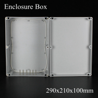 1 Piece Lot 290 210 100mm Grey ABS Plastic IP65 Waterproof Enclosure PVC Junction Box