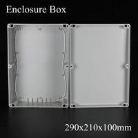 1 Piece Lot 290 210 100mm Grey ABS Plastic IP65 Waterproof Enclosure PVC Junction Box