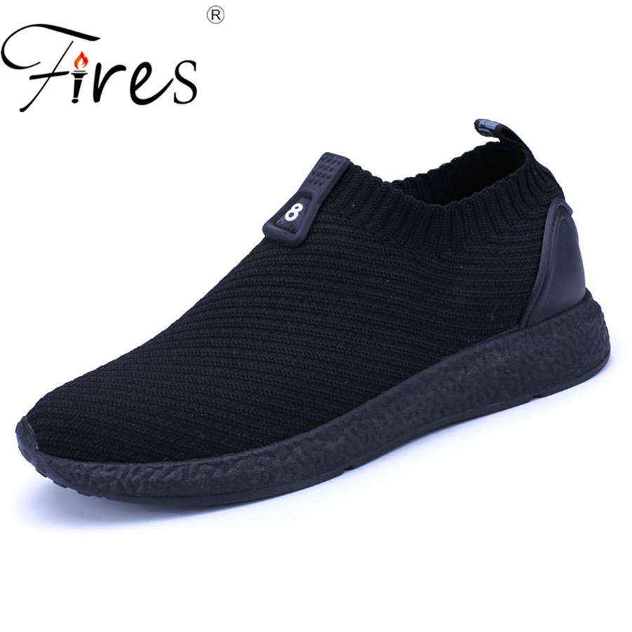Fires Zapatos de verano para hombres Zapatos deportivos ligeros para hombre Zapatillas para correr Mosca Zapatillas de deporte Tendencia de otoño Zapatillas deportivas Zapatillas de deporte planas
