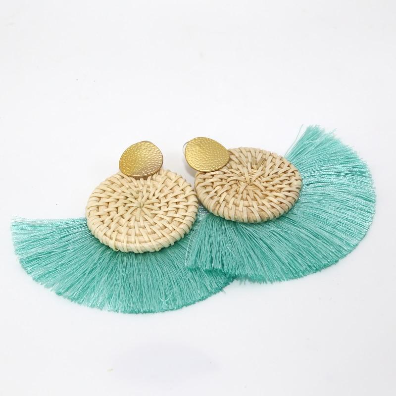 Video Games Diy 4pcs Boho Weave Handmade Lafite Tassel Earrings Charms Jewelry Accessories