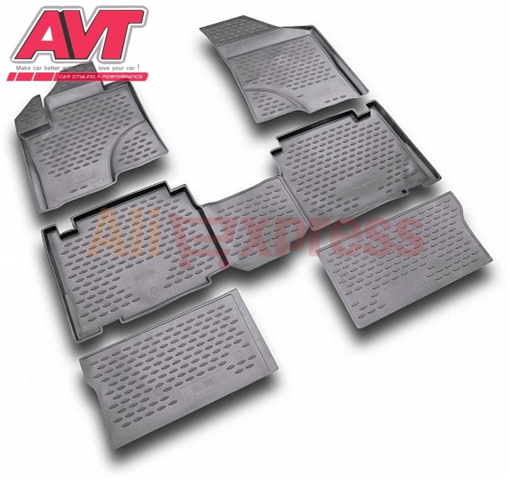 Tapis de sol pour Hyundai IX 55 2007-4 pièces en caoutchouc tapis en caoutchouc antidérapant intérieur voiture accessoires de coiffure