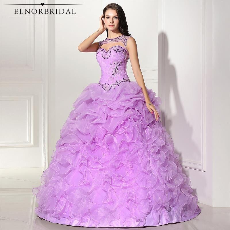 17974 18 De Descuentoelnorbridal Foto Real Púrpura Quinceañera Vestidos De Novia Vestido De Fiesta 2018 Vestido 15 Anos Corest Volver Plus Tamaño