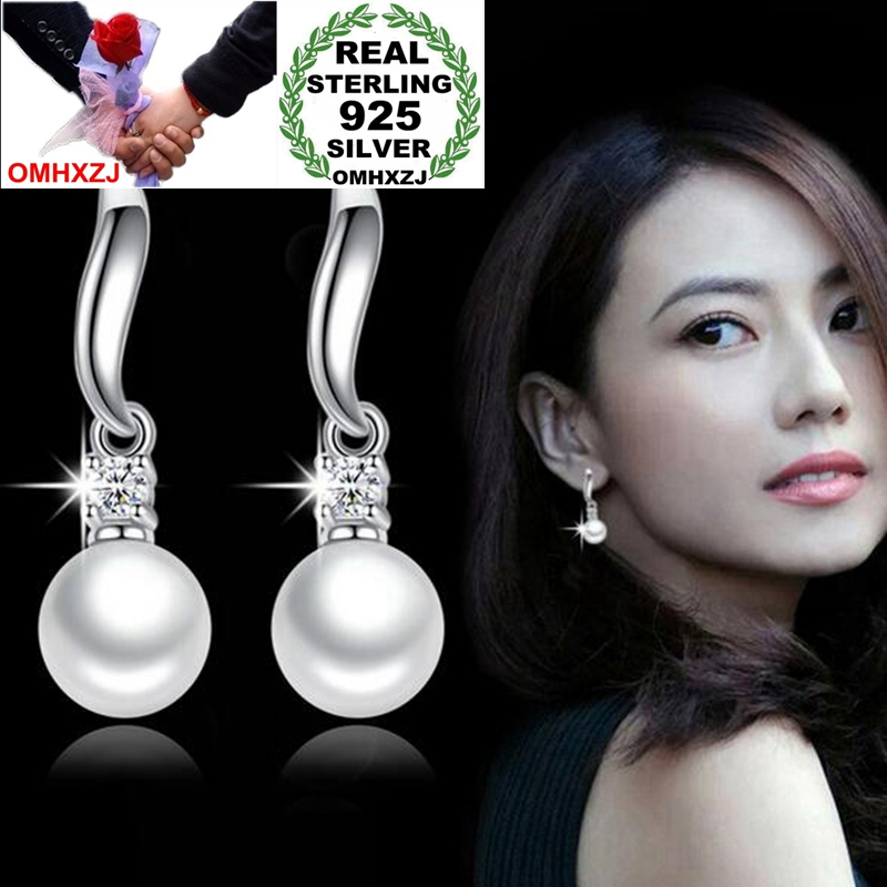 OMHXZJ Wholesale Jewelry Fashion joker OL Style for Woman Gift Soft Beauty Pearl 925 Sterling Silver Tassel Stud Earrings YS263OMHXZJ Wholesale Jewelry Fashion joker OL Style for Woman Gift Soft Beauty Pearl 925 Sterling Silver Tassel Stud Earrings YS263