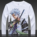 Kurosaki ichigo lixívia Camisetas Impressão 10th Captian Ulquiorra cifer Grimmjow Completa T Shirt Tops de Manga Longa Outono T-shirt Roupas