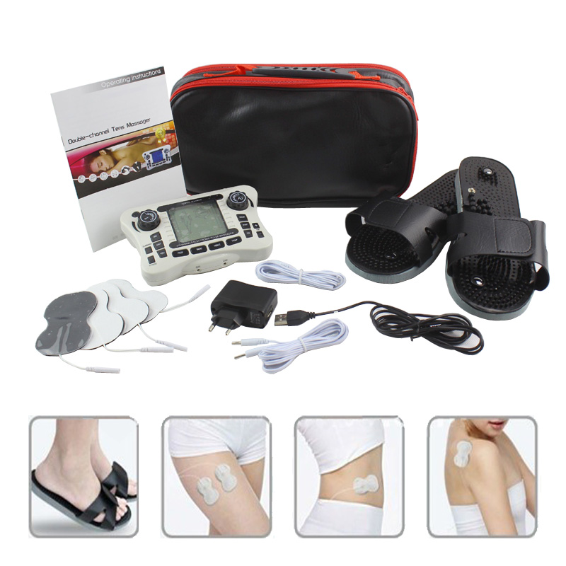 New dual output electronic pulse treatment instrument with massage slippers massager