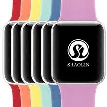 Relógio de Esportes da Banda de Silicone macio para A Apple Série Série Série 2 3 1, 42mm Faixa de Relógio Pulseira De Borracha para A Maçã