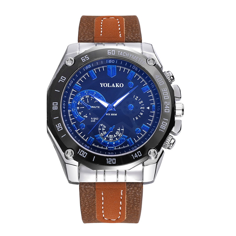 Man Watch PU Strap Watches Military Watch casual fashion wristwatches Waterproof Watch man relogio masculino