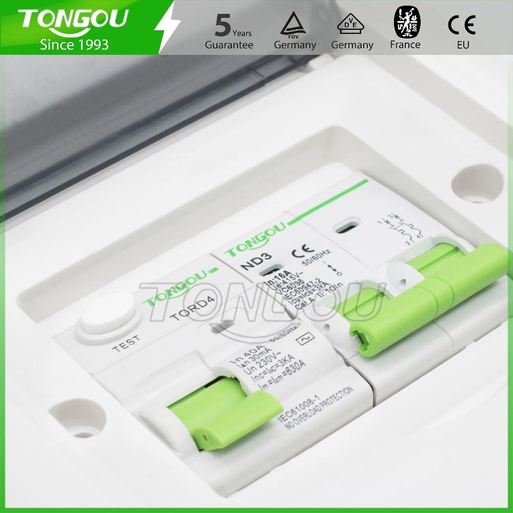 2-4 manières unité de consommateur de boîte de distribution en métal 63A 2 P RCD protection de disjoncteur 5 ans de garantie