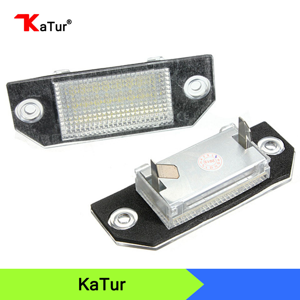 DC12V 24 SMD LED License Number Plate Light Lamps For Ford Focus C-MAX 03-07 Real Lamp Bulbs 1pair license number plate light 18led lamps replace for ford mondeo focus 5d canbus d2tb
