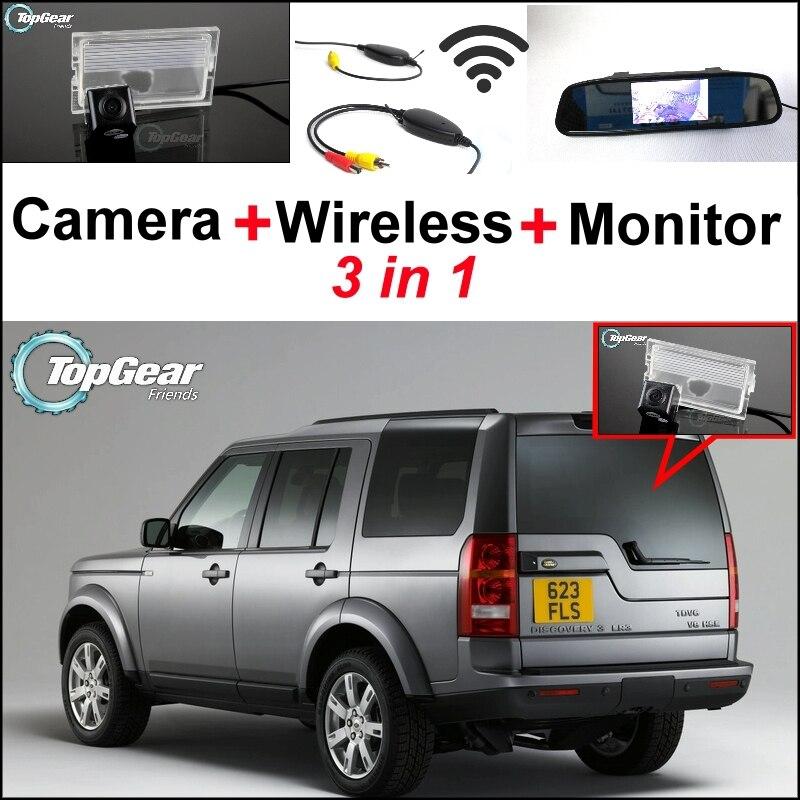 3in1 cámara especial de visión trasera + receptor inalámbrico + espejo  Monitores DIY Sistema de estacionamiento para land rover Discovery 3 4 2005  ~ 2014 ab85325c536a