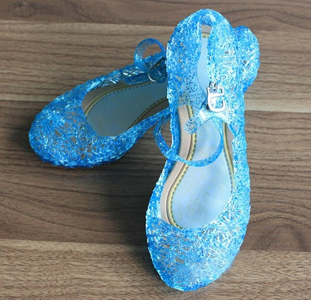 143a9a4778b17c 2017 New Arrival Beautiful Girls Shoes Elsa Cinderella Costume Sleep  Beautiful Little Weges Kids Girl Sandals