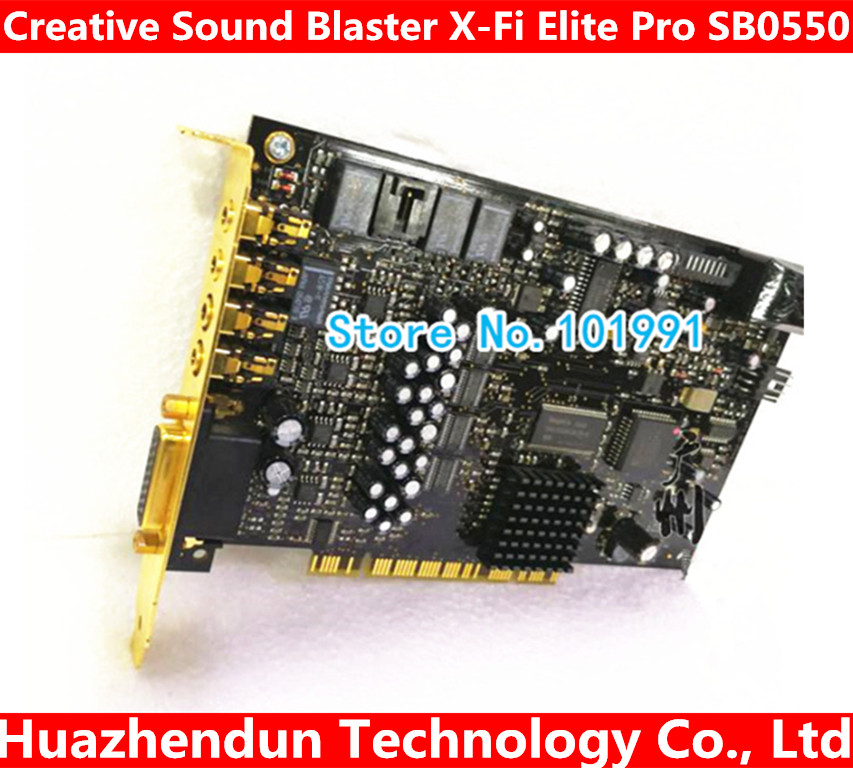 Original for Creative Sound Blaster X-Fi Elite Pro SB0550 7.1 sound card working good queenway amplifier new creative labs sound blaster external sound card for net karaoke x fi surround pro 5 1 usb d a converter