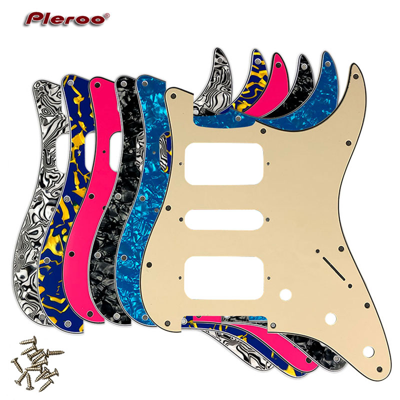 Guitar Parts - For USA\Mexico Fd Stratocaster 11 Screw Holes HSH Two Deluxe Humbuckers Single St Guitar pickguard Scratch Plate