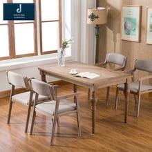 Простой ретро обеденный стул из цельного дерева стул для ресторана подлокотник кресло для отдыха