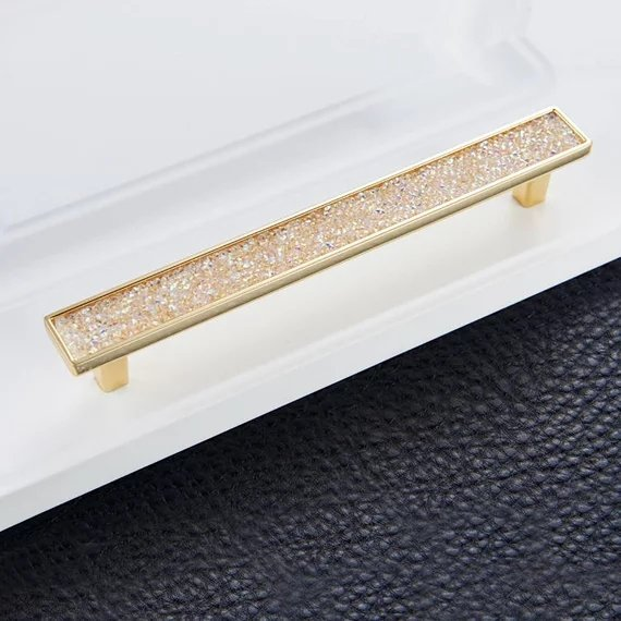 3 75 39 39 5 39 39 6 3 39 39 Modern Gold Drawer Pull Handle Knob Glass Crystal Cabinet Door Handles Knobs Square Dresser Pulls Kitchen Pulls in Cabinet Pulls from Home Improvement