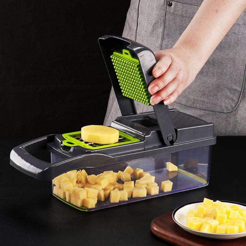 Multifunction Hot Vegetable Slicer With Dicing Blades Manual Potato Peeler Carrot Grater Dicer Kitchen Tools Vegetable Cutter