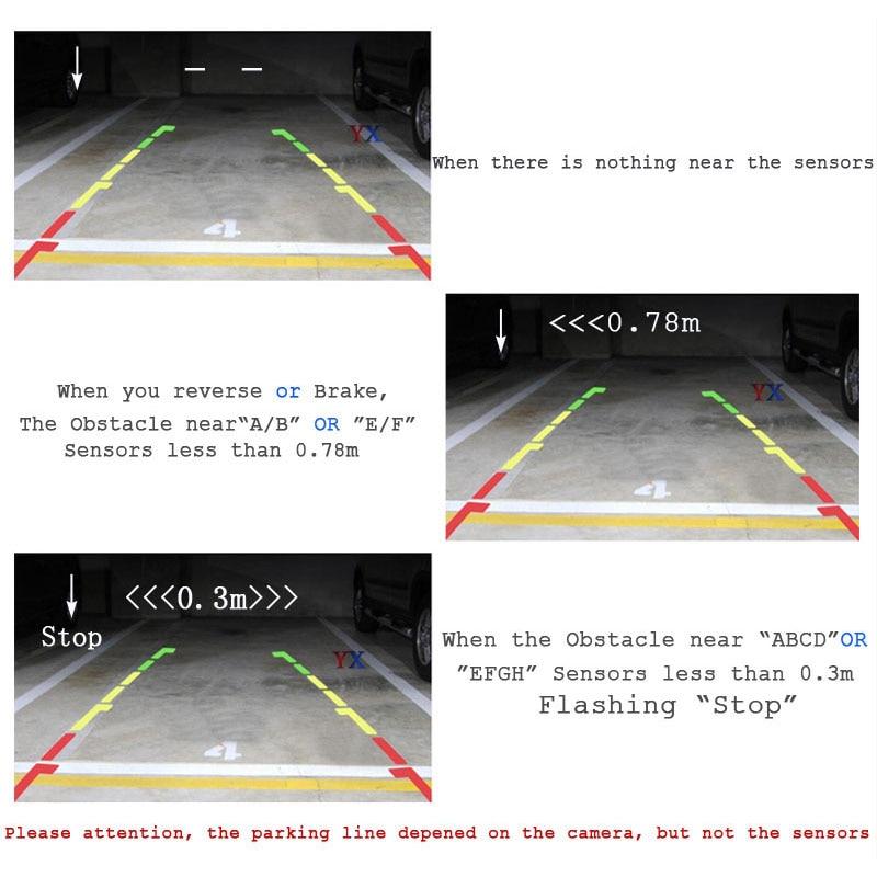 Koorinwoo Czujnik parkowania samochodu 8 Radar System z samochodem - Elektronika Samochodowa - Zdjęcie 2