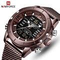 Топ люксовый бренд NAVIFORCE мужские спортивные военные часы Мужские кварцевые часы аналоговые цифровые водонепроницаемые наручные часы relogio ...