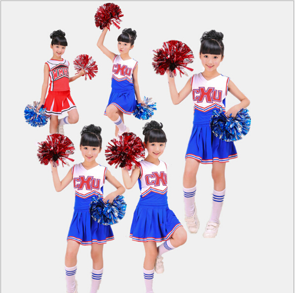 Free Shipping Cheerleading Pom Poms Cheerleading Cheer Supplies Rose Mix Blue Single Paragraph