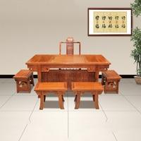 Китайский антикварный чайный стол мебель и стол китайский специальный Ежик палисандр мебель с 5 стульями и столом