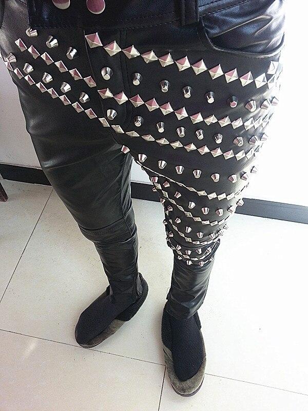 Mode Dj Garmenatrivet Vêtements 4xl M Stade Chanteur Lether Costume Costumes Mince Ds Hommes Pantalon De ZFqT8w