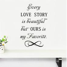Buy beautiful wedding quotes and get free shipping on aliexpress color casa love story is beautiful wall sticker wall decals junglespirit Choice Image