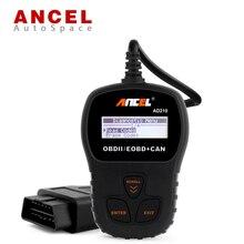 Nueva ANCEL AD210 OBD2 EOBD PUEDE Lector de Código de OBDII Scanner Automotriz errores VS890 Scan Tool OBD 2 II PK Ruso AD310 OM123 NL100