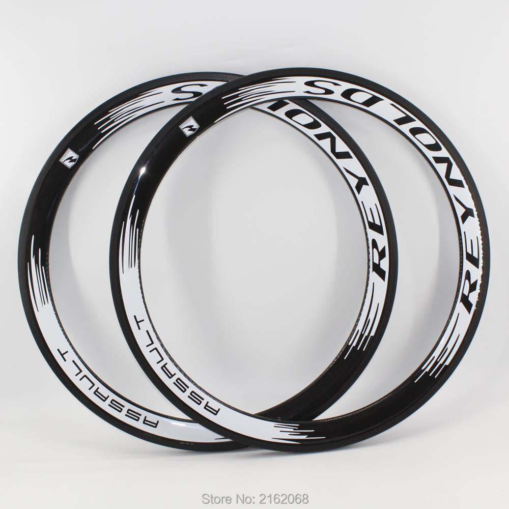 2Pcs Newest white 700C 50mm clincher rims Road bicycle 3K UD 12K full carbon fibre bike wheels rims 23 25mm width Free shipping2Pcs Newest white 700C 50mm clincher rims Road bicycle 3K UD 12K full carbon fibre bike wheels rims 23 25mm width Free shipping