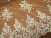 Gold Embroidered Lace Fabric wedding lace Fabric French Lace Fabric Bridal Lace Fabric