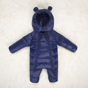 cute baby coats and jackets with Hooded duck down snowsuit child warm baby clothes newborn boys girls winter rompers kids