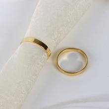 2 X Золотое кольцо для салфетки Пряжка отель Свадебная вечеринка украшение стола аксессуары