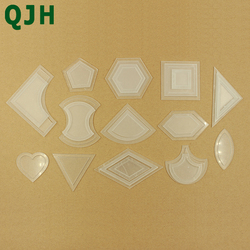 54pcs/bag Patchwork Template DIY Handmade Craft Sewing Tool Transparent Template Different Shape Pattern Quilter Quilting Supply