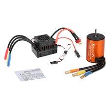 Rcharlance Mutiple защита Особенности бесщеточная мощность комбинированная система 4 полюса 4300KV мотор(5,8 V/3A BEC) для 1/10 RC автомобиля
