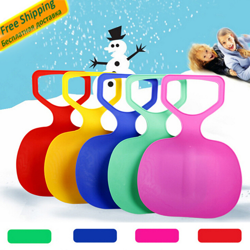 Kids Thicken Plastic Skiing Boards luge e Ski Pad Children Snow grass sand Sledge Sled for Winter Sports SCI equiment