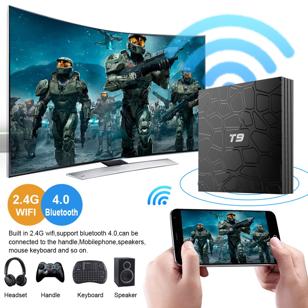 Image 3 - New TV Box T9 Android 8.1 4GB64GB Rockchip RK3328 32G BT4.1 Wifi 1080P H.265 4K VP9 10 Google Player Smart Set Top Box PK X96MAX-in Set-top Boxes from Consumer Electronics