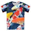 2016 Summer Galaxy T Shirt Animal pez mar barco Bridge tortuga astronauta imprimir niños 3D T-Shirt muchacha del muchacho de moda camisetas Tops