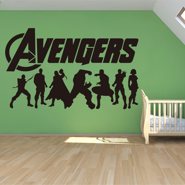 Creative Home Decoration Iron Man Avengers 2 U0026 Hulk U0026 Captain America U0026 Boy  Bedroom Living