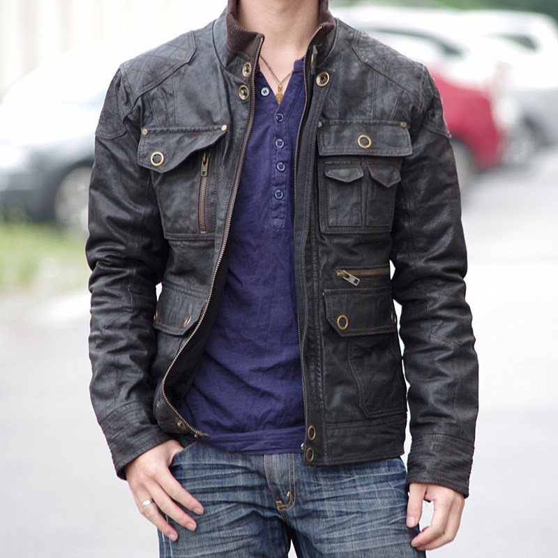 Vintage Leather Biker Jackets For Men - Jacket