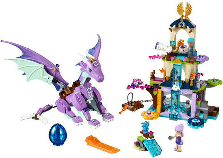 The Dragon Sanctuary Compatible 41178 Elves Figure Fairy Set Building Block Model Toys for Children BELA 10549 Girls Gifts 10548 elves the precious crystal mine building block set naida farran figures baby dragon toys for children compatible 41177