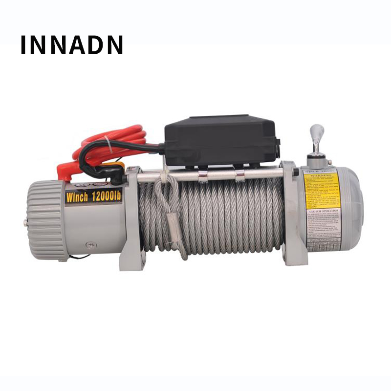 Electric capstan WINCH 12000IB 12V Car Crane Electric Hoist Winch SUV Self-help Car Winch Crane only shipping to Russian