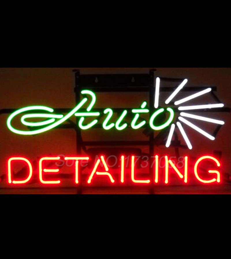 Neonetics Auto Detailing Neon Sign 5DTAIL Garage Wall Art