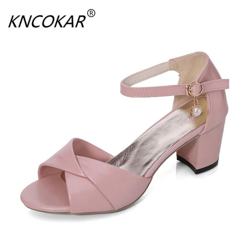 2017 Summer new word buckle Roman thick with bowknot is wrapped with high heel sandals with leisure fish mouth shoes 2016 summer new fish head roman sandals women 14cm heels thick with thin waterproof shoes