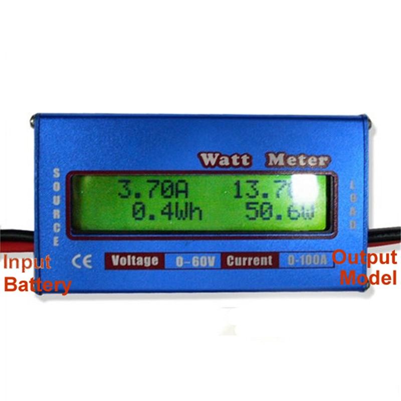лидер продаж высокое качество жестокие хели ватт метр цифровой жк-дисплей дисплей для DC 60 в 100А батарея мощность анализатор