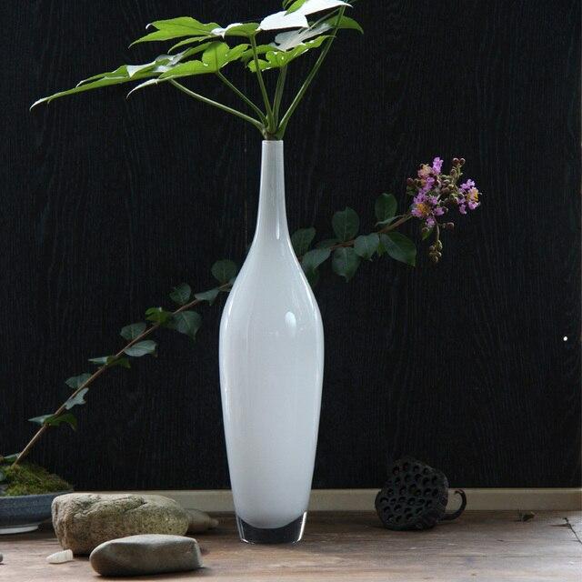 Glazen vaas fles decoratie mode aanrecht vaas in glazen for Decoratie fles