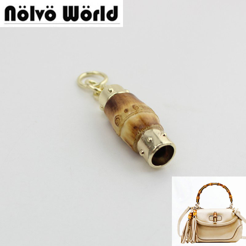 50pcs Fashion Bamboo Fringed Pendant Hangtag For Fashion Bags Handbag Decorative Hanger  Lovely Pendant Bag Charm Hanger